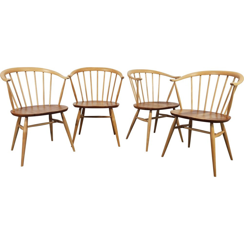 4 Vintage Horn Chairs Ercol Cow 1960s