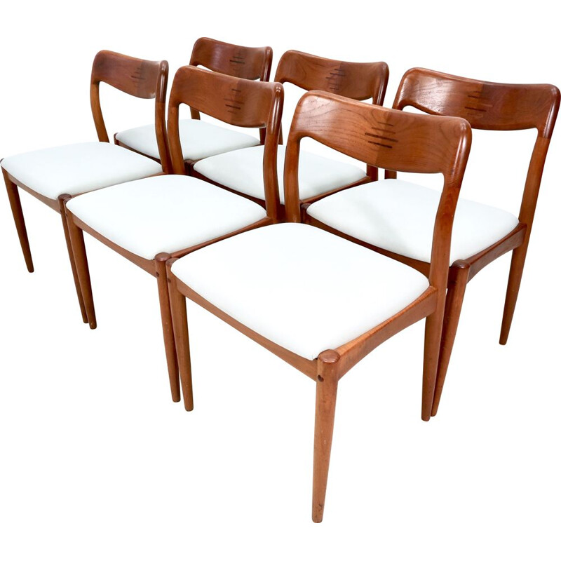 Set of 6 Vintage Teak Dining Chairs by Johannes Andersen for Uldum Møbelfabrik, 1960s