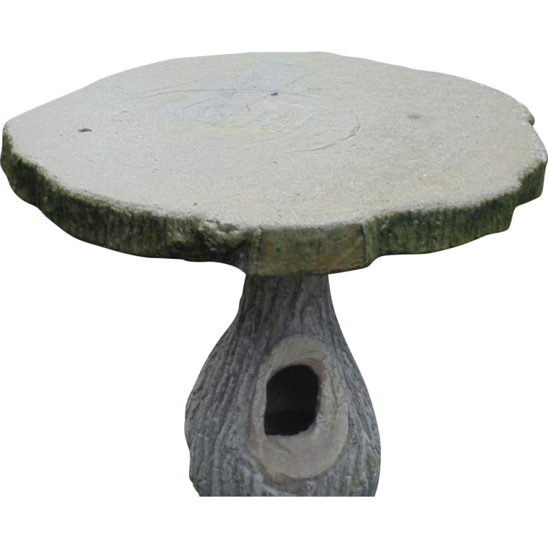 Vintage cement garden table imitating the tree 1930's