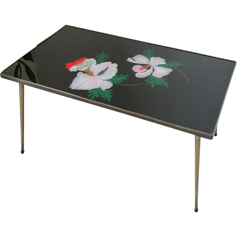 Vintage coffee table Flowers 1950