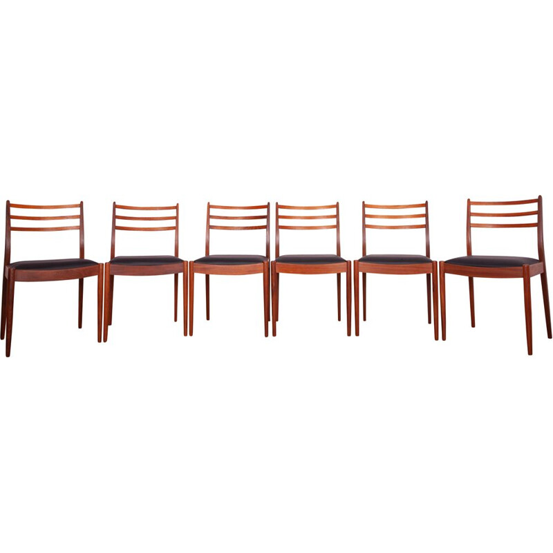 Set of 6 Vintage Teak Dining Chairs by Victor Wilkins for G-Plan Danish 1960s
