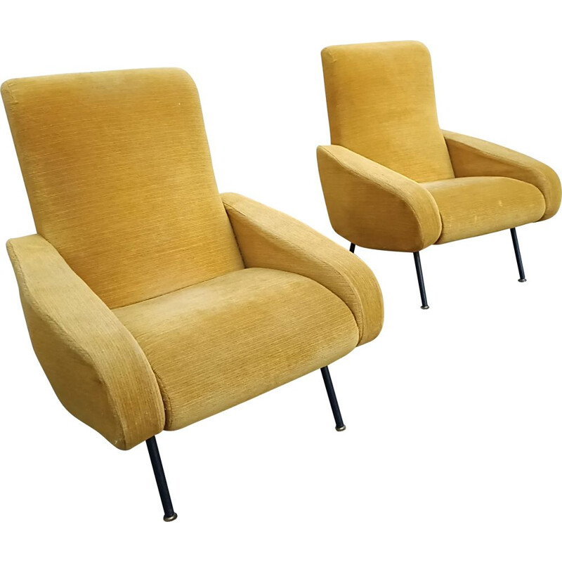 Pair of Troika vintage armchairs Pierre Guariche 1950