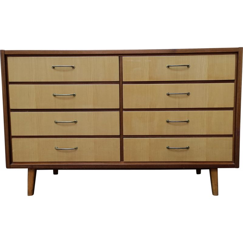 Vintage 8-drawer chest of drawers, Alfred Cox