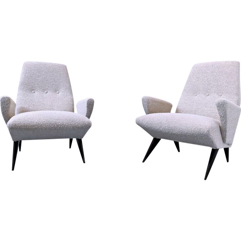 Pair of vintage armchairs by Nino Zoncada for Frimar, Italy 1950