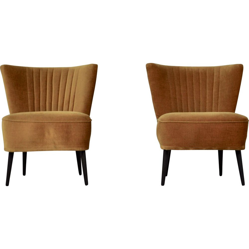 Pair of vintage cocktail armchairs 1960