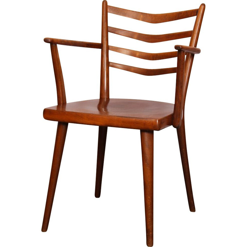 Vintage wooden chair Ton, Czechoslovakia 1960
