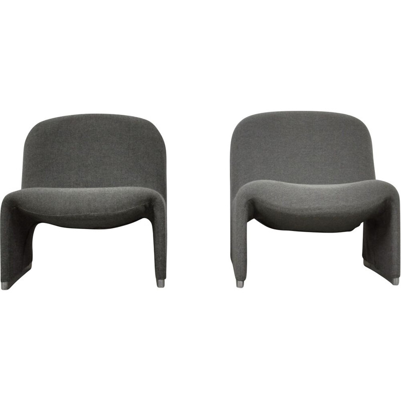 Pair of vintage armchairs by Giancarlo Piretti 1970