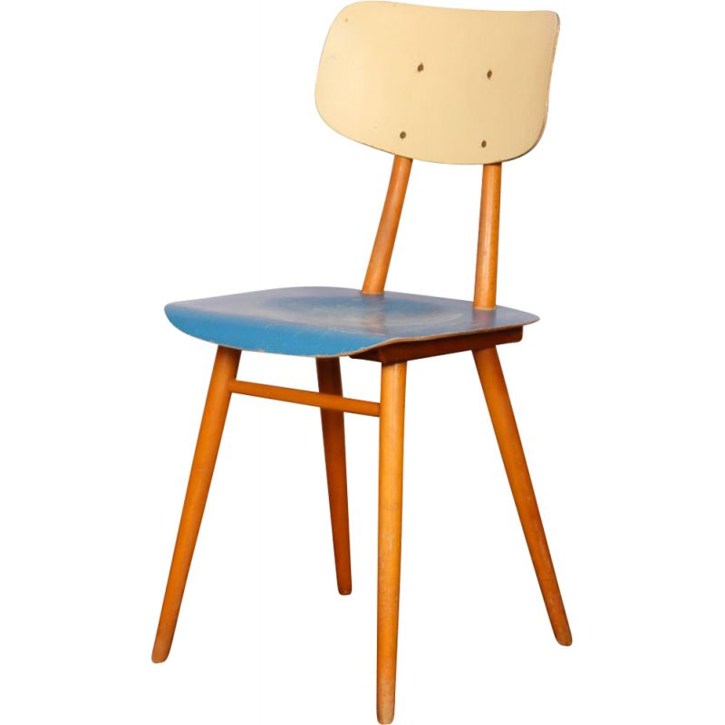 Vintage wooden chair by Ton, Czechoslovakia 1960