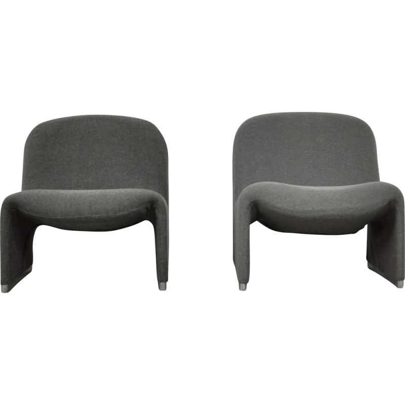 Pair of vintage armchairs by Giancarlo Piretti for Anonima Castelli, 1970