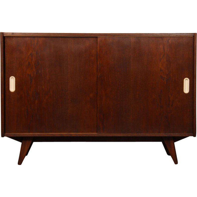 Vintage oak highboard model U-452, by Jiri Jiroutek, 1960