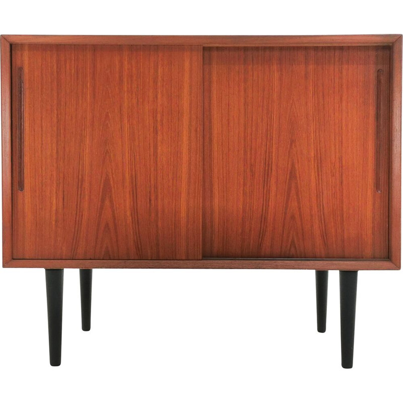 Vintage teak highboard, Denmark 1970