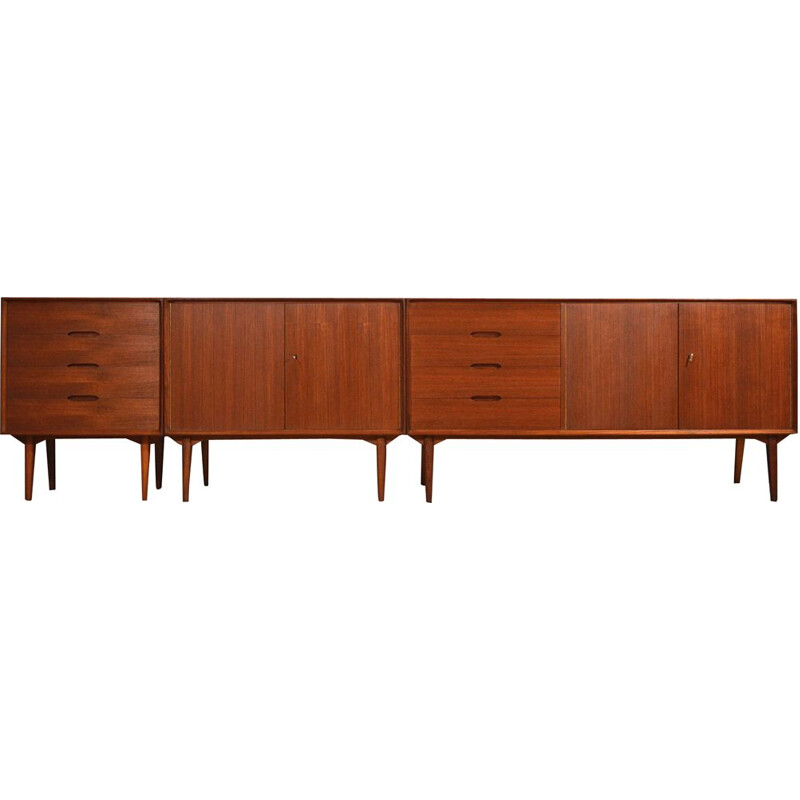 Large vintage teak sideboard by Rex Raab for Wilhelm Renz 1960
