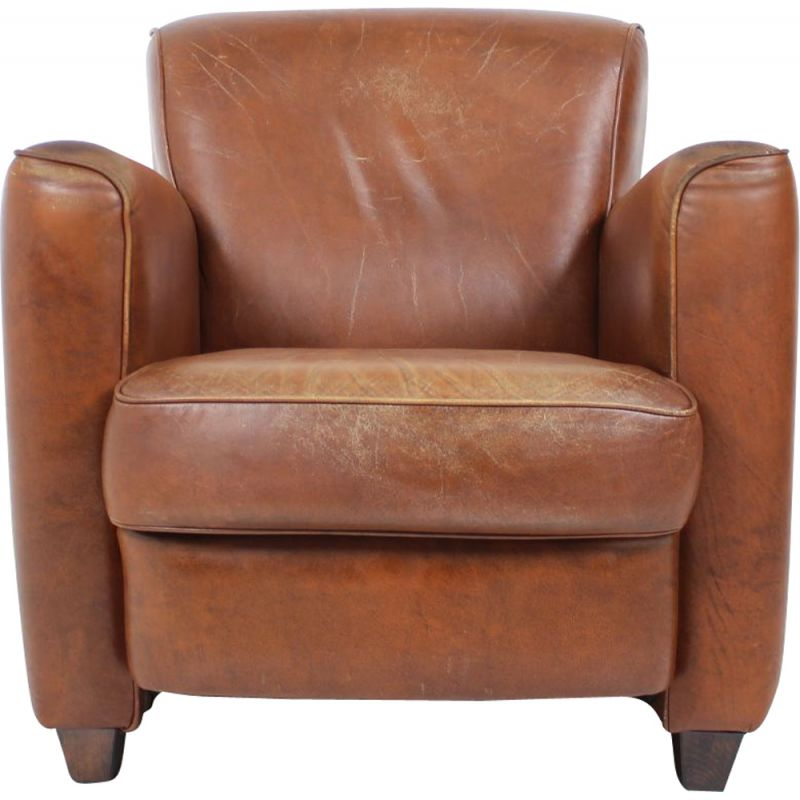 Vintage Leather armchair British 1970