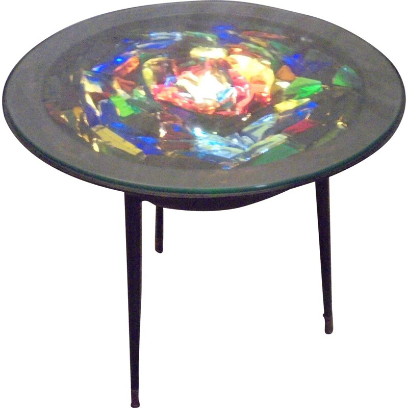 Vintage Luminous  coffee table 1950