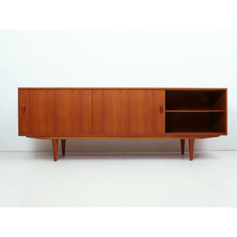 Scandinavian Silkborg Sideboard In Teak Clausen Son 1960