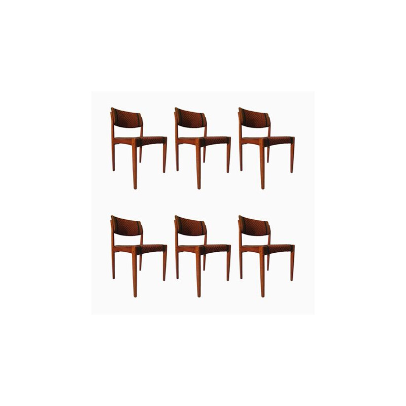 Set of 6 Chairs by Henry Walter Klein for Bramin Furniture, Denmark 1960