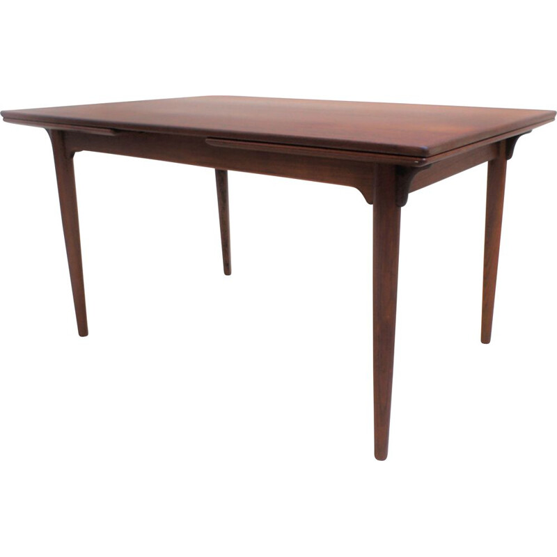 Vintage scandinavian teak dining table, Omann Jun 1960