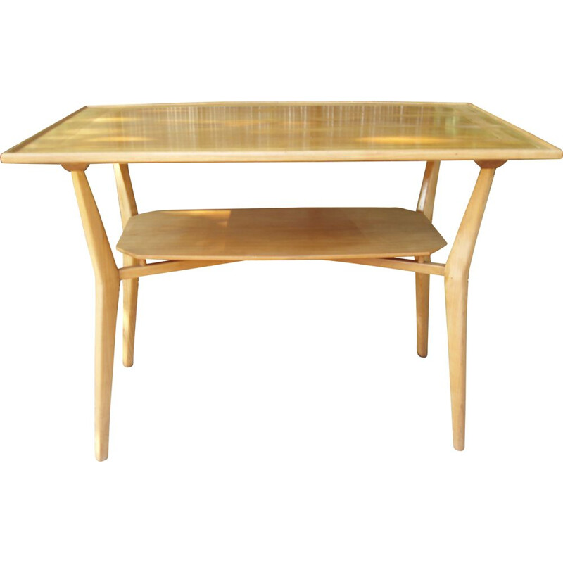 Vintage coffee table in blond maple