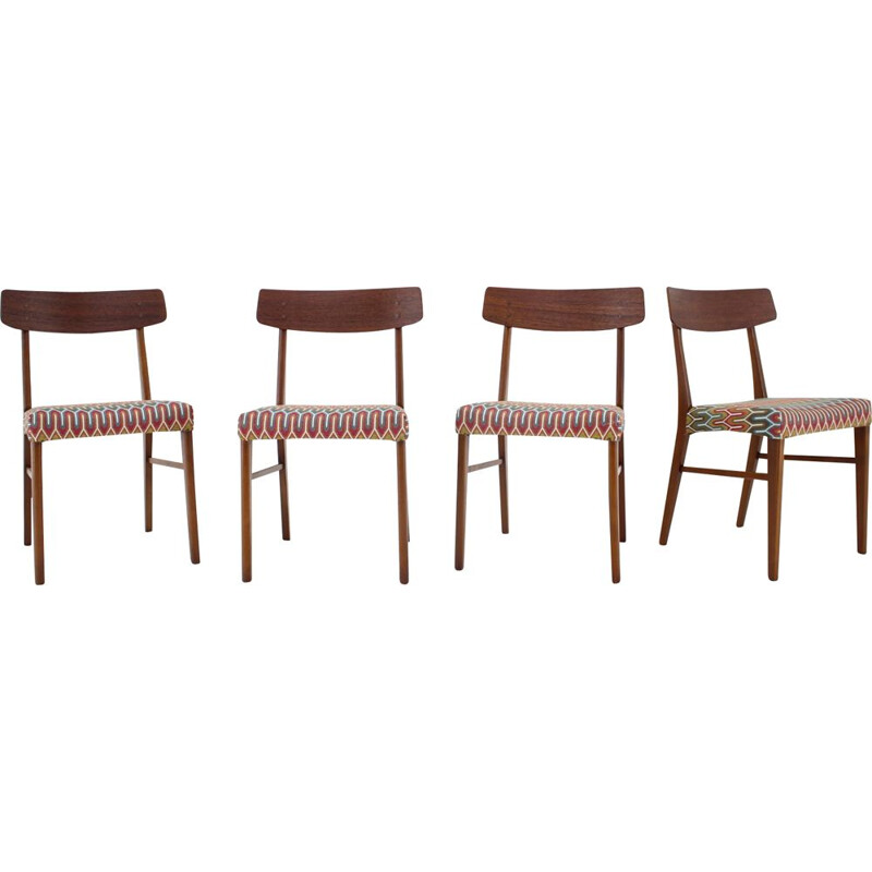 Set of 4 vintage Teak Dining Chairs Danish 1960s