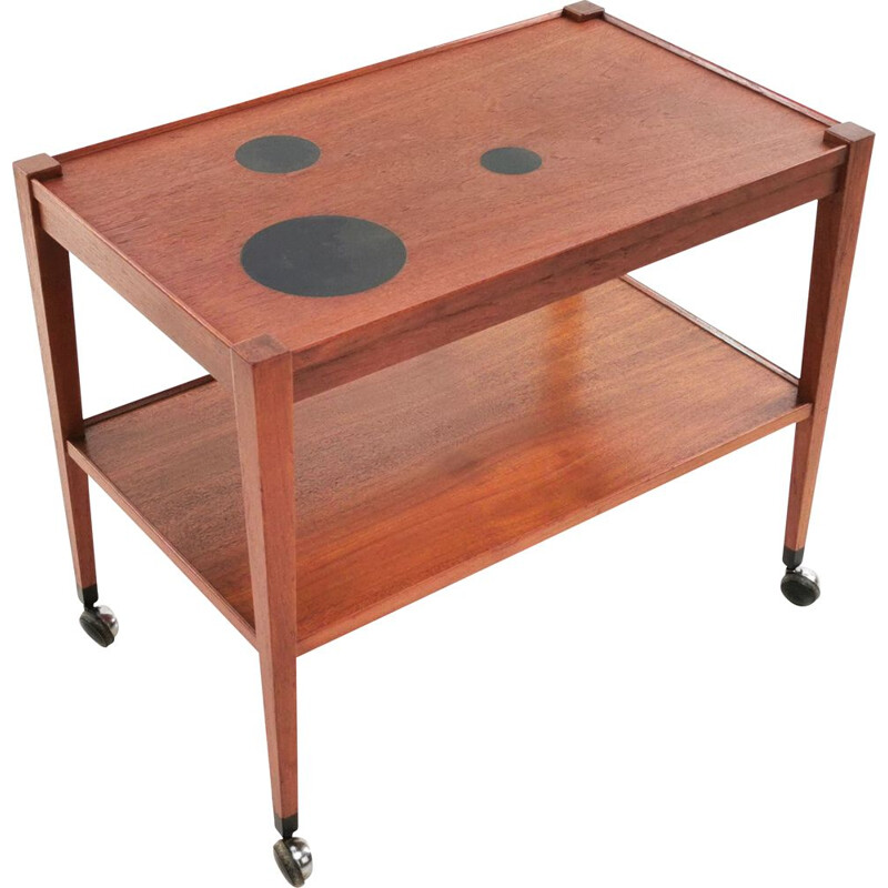 Mid Century Teak Trolley Coffee Table Kvalitet Form Funktion Danish 1960s