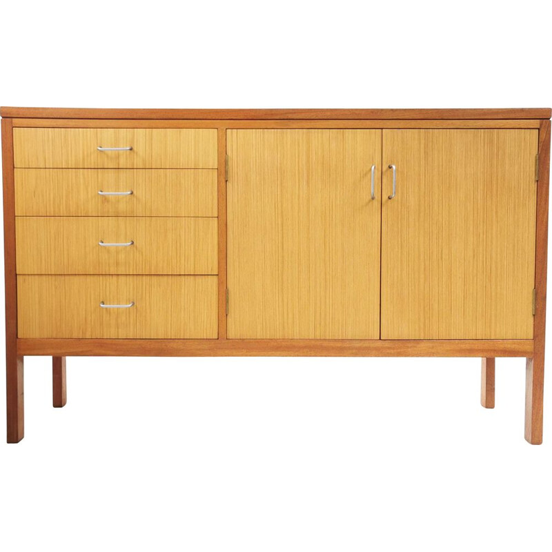 Mid Century Teak Military Sideboard by Mann Egerton 1970s