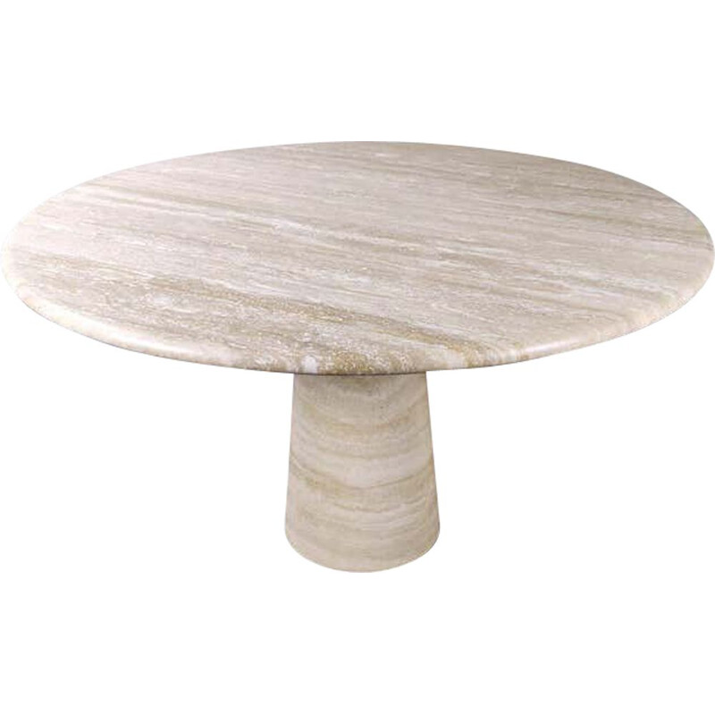 Vintage travertine table Italian 1970s
