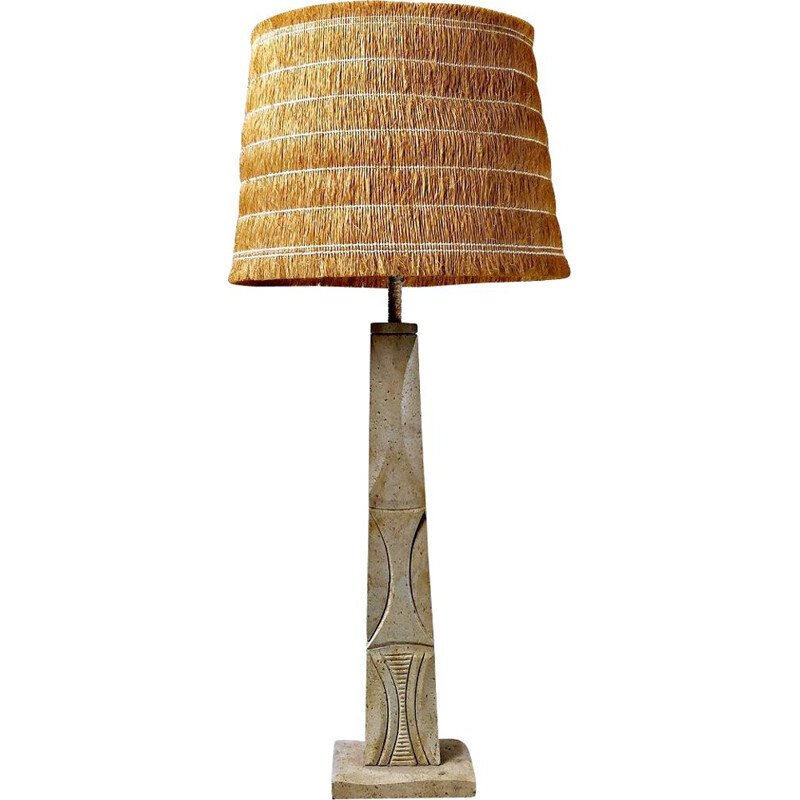 Vintage table lamp Travertine, Italy 1970