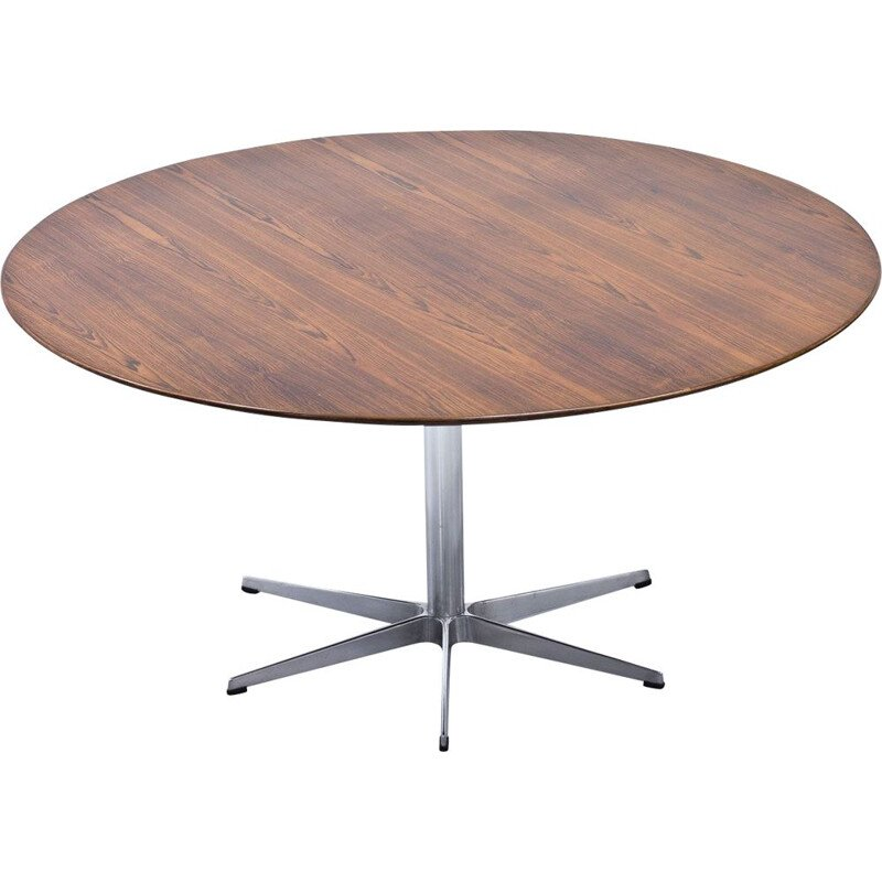 Vintage rosewood dining table by Arne Jacobsen for Fritz Hansen 1960