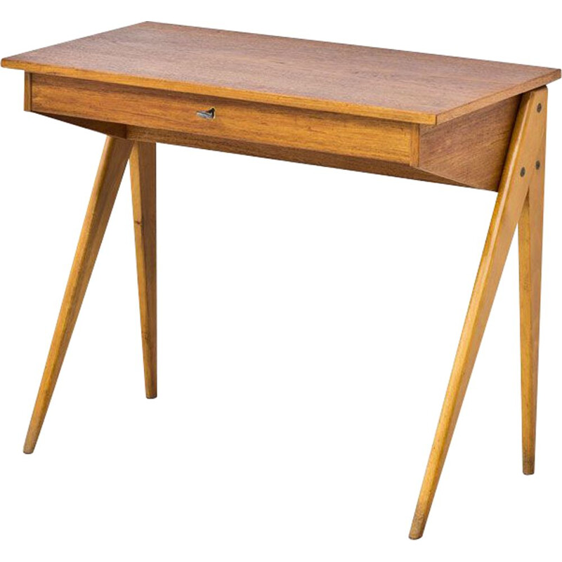 Vintage desk by Yngve Ekström for Emmaboda Möbelfabrik 1950