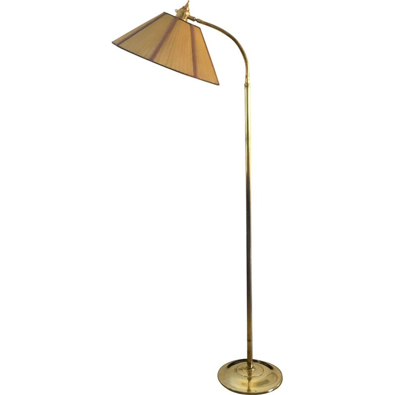 Vintage brass floor lamp 1950
