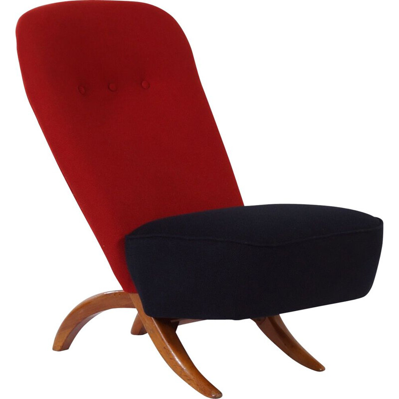 Vintage Congo Chair 1001 by Theo Ruth for Artifort 1950