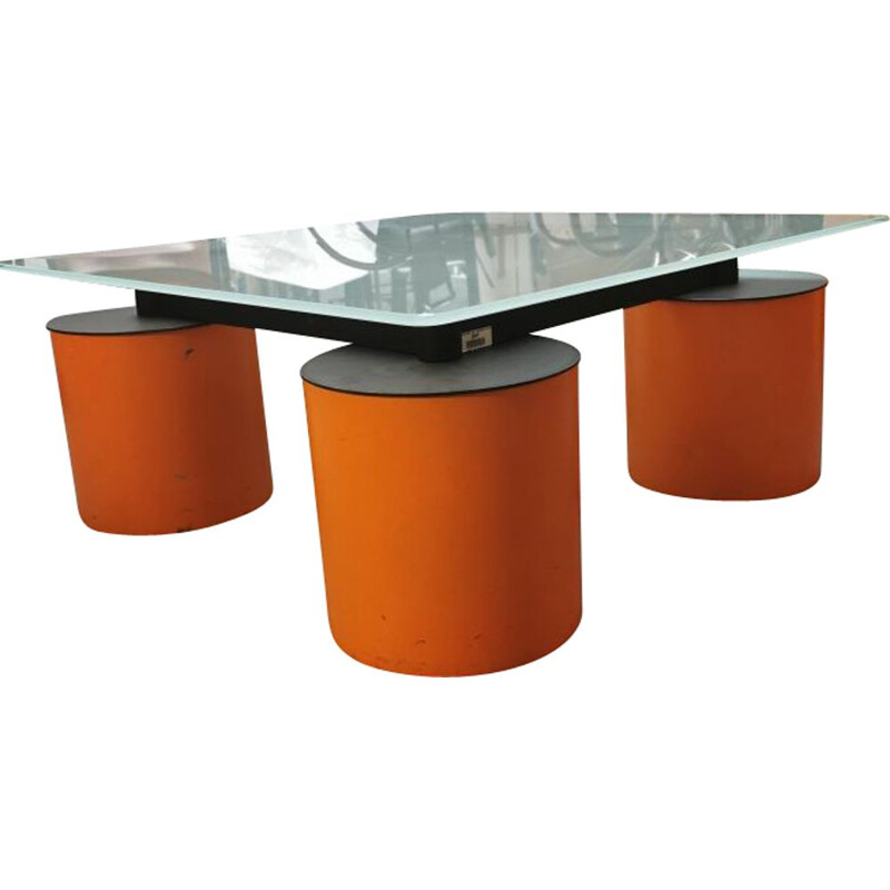 Vintage coffee table David Law and Massimo Vignelli, Italy 1980