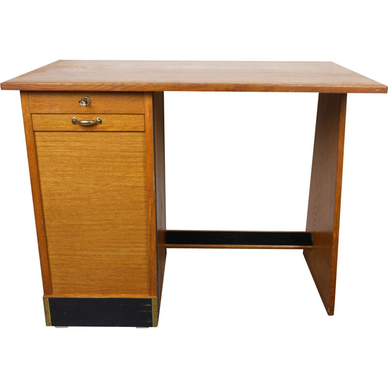 Small vintage Desk with Shutters, Germany, 1950s