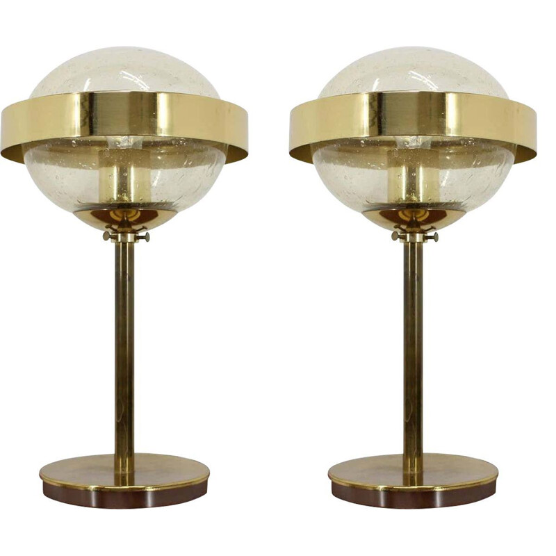 Pair of vintage Space Age Style UFO Table Lamp, Kamenicky Senov, 1970s