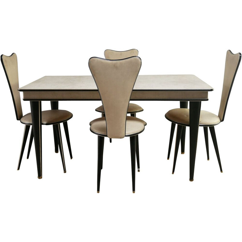 Vintage dining room set by Umberto Mascagni, Italy 1950