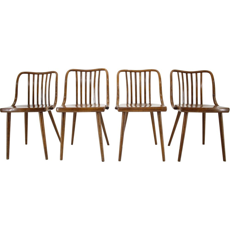 Set of 4 vintage chairs Antonin Suman, Czechoslovakia 1960