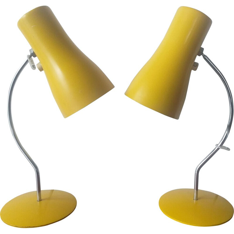 Pair of vintage lamps Napako by Josef Hurka 1970