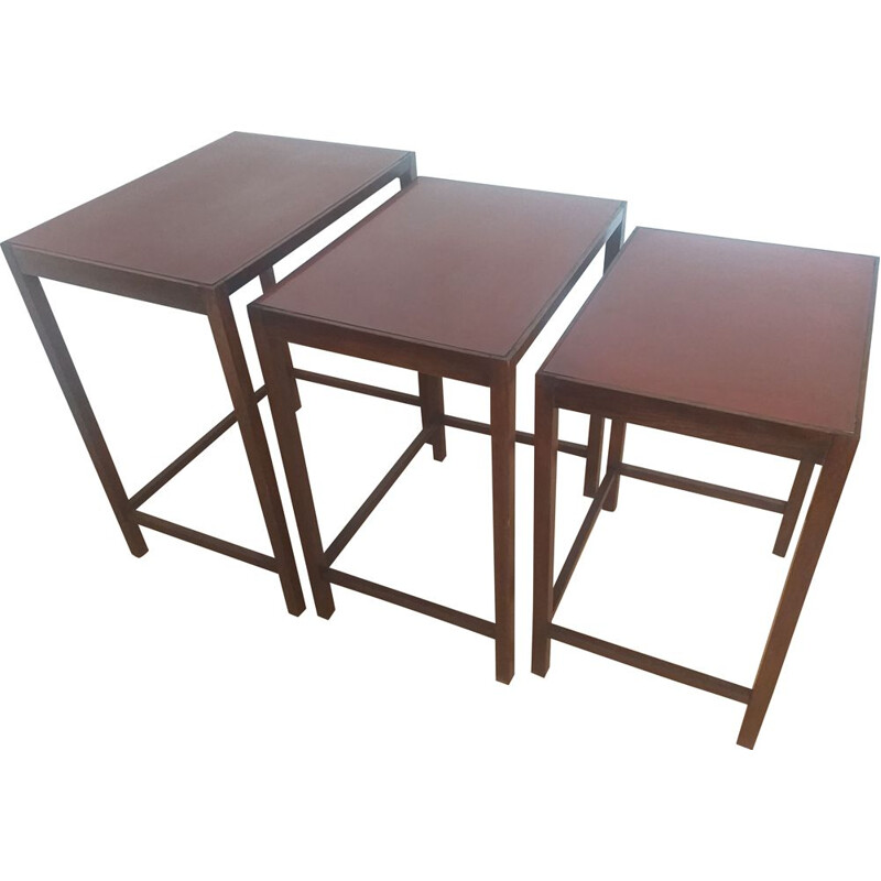Vintage Art Deco nesting tables by Jindrich Halabala 1930