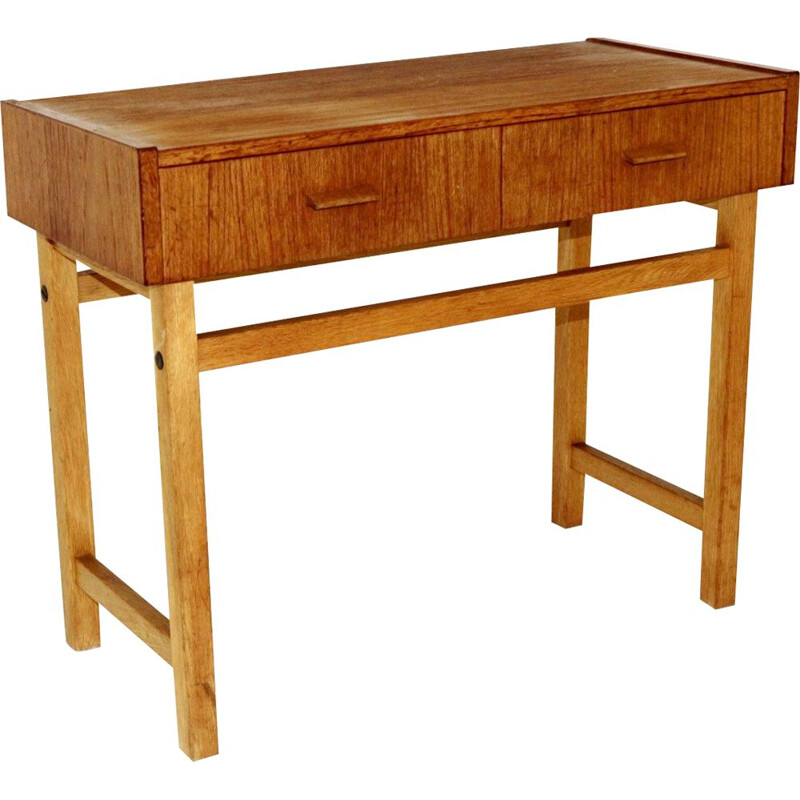 Vintage teak and oak console, Sweden 1960