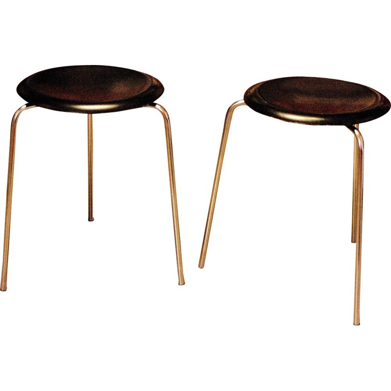 Vintage stools Dot by Arne Jacobsen for Fritz Hansen 1950