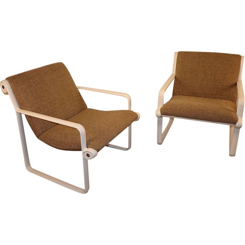 Pair of Hannah & Morrison vintage armchairs for Knoll 1970s