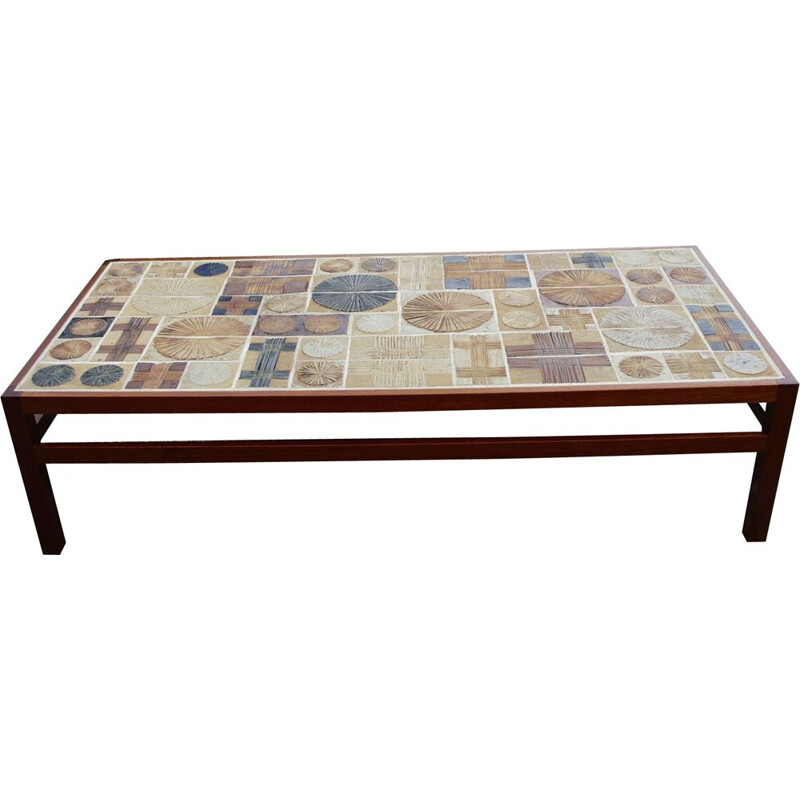 Vintage coffee table by Tue Poulsen, Denmark 1960