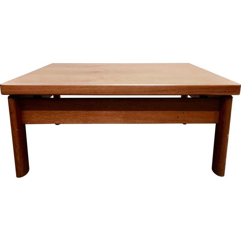 Vintage scandinavian teak coffee table 1960s