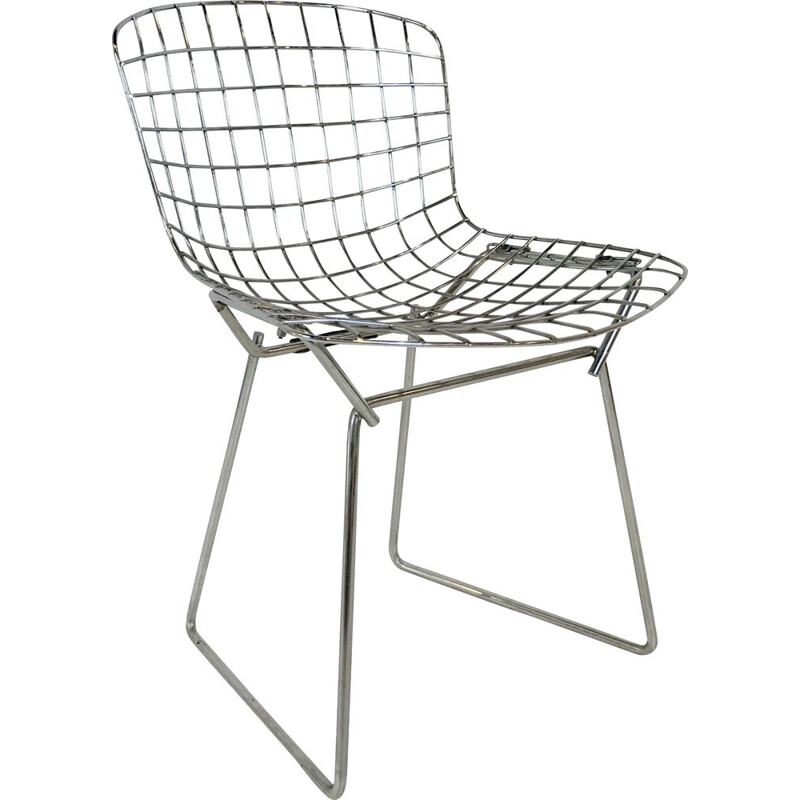 "Vintage children's chair ""Wire"" By Harry Bertoia for Knoll 1960s"