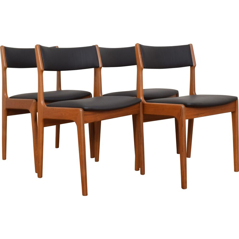 Set of 4 Vintage Danish Teak Dining Chairs from Korup Stolefabrik 1960s