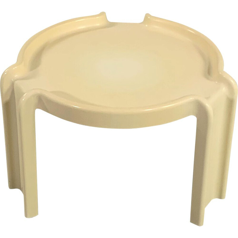 Vintage Low Side Table by Giotto Stoppino for Kartell 1970s