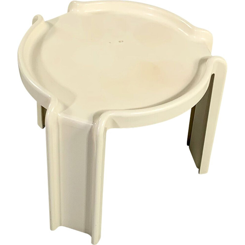 Vintage White Side Table by Giotto Stoppino for Kartell 1970s