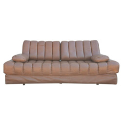De Sede DS 85 two seater sofa in leather and chrome steel - 1960s