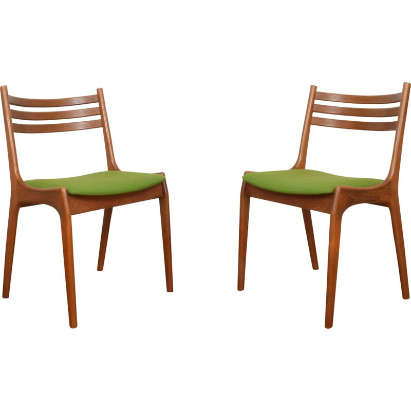 Pair of vintage Danish Teak Dining Chairs by Henning Kjærnulf for Korup Stolefabrik 1960s