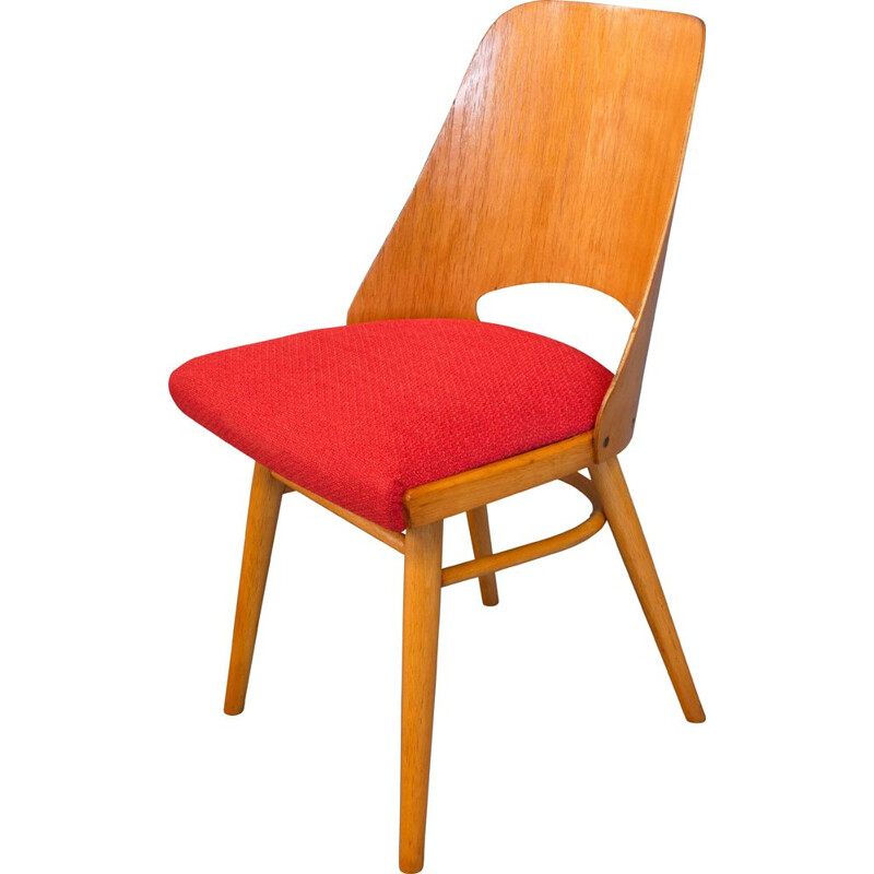 Mid-Century Dining Chair by Radomir Hofman for Ton